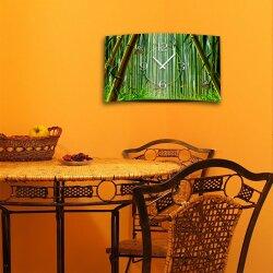 Bambus Schmetterlinge Designer Wanduhr modernes Wanduhren Design leise kein ticken dixtime 3D-0097