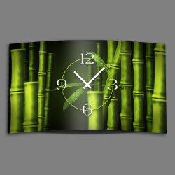 Bambus Designer Wanduhr modernes Wanduhren Design leise...