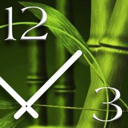 Bambus Designer Wanduhr modernes Wanduhren Design leise kein ticken dixtime 3D-0096