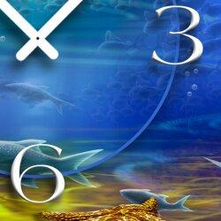 Meeresgrund  Designer Wanduhr modernes Wanduhren Design leise kein ticken dixtime 3D-0095