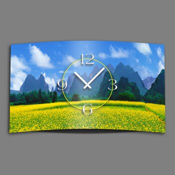 Panorama Berge Designer Wanduhr modernes Wanduhren Design leise kein ticken dixtime 3D-0093