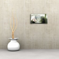 Asia Lotus Designer Wanduhr modernes Wanduhren Design leise kein ticken dixtime 3D-0090