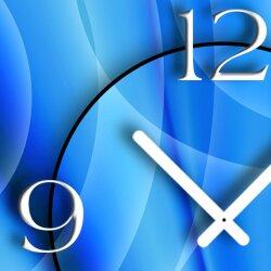 Abstrakt blau Designer Wanduhr modernes Wanduhren Design leise kein ticken dixtime 3D-0087