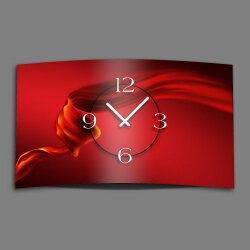 Abstrakt Seide rot Designer Wanduhr modernes Wanduhren...