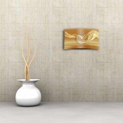 Abstrakt Seide beige Designer Wanduhr modernes Wanduhren Design leise kein ticken dixtime 3D-0076