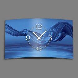 Abstrakt Seide blau Designer Wanduhr modernes Wanduhren Design leise kein ticken dixtime 3D-0075