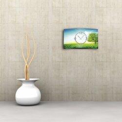 Landschaft Designer Wanduhr modernes Wanduhren Design leise kein ticken dixtime 3D-0072