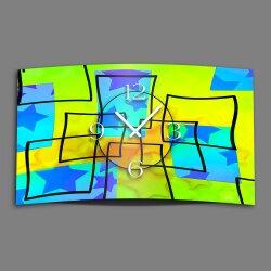Abstrakt Sterne Designer Wanduhr modernes Wanduhren Design leise kein ticken dixtime 3D-0071