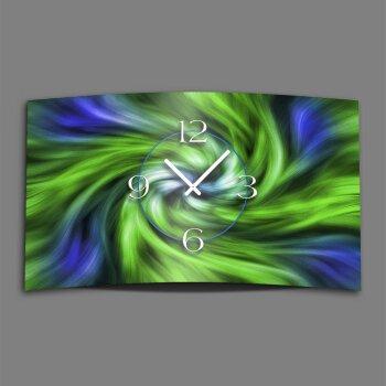 Abstrakt grün blau Designer Wanduhr modernes Wanduhren Design leise kein ticken dixtime 3D-0069