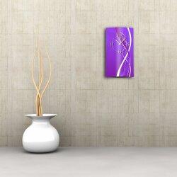 Abstrakt lila Designer Wanduhr modernes Wanduhren Design leise kein ticken dixtime 3D-0067