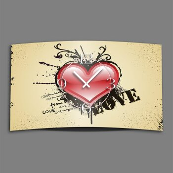 Vintage Love Designer Wanduhr modernes Wanduhren Design leise kein ticken dixtime 3D-0064