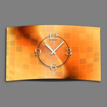 Abstrakt orange Designer Wanduhr modernes Wanduhren Design leise kein ticken dixtime 3D-0059