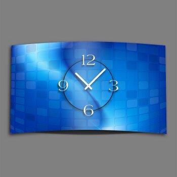 Abstrakt blau Designer Wanduhr modernes Wanduhren Design leise kein ticken dixtime 3D-0058