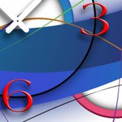 Abstrakt weiß bunt Designer Wanduhr modernes Wanduhren Design leise kein ticken dixtime 3D-0057