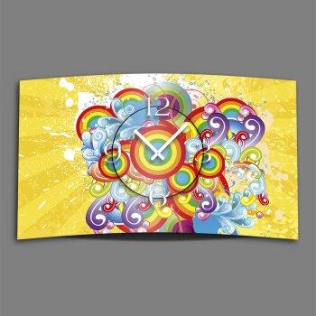 Vintage Regenbogen Designer Wanduhr modernes Wanduhren Design leise kein ticken dixtime 3D-0055