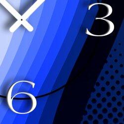 Abstrakt Retro blau Designer Wanduhr modernes Wanduhren Design leise kein ticken dixtime 3D-0052