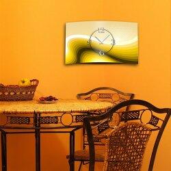 Abstrakt Retro braun orange Designer Wanduhr modernes Wanduhren Design leise kein ticken dixtime 3D-0050