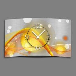 Abstrakt gelb orange Designer Wanduhr modernes Wanduhren...