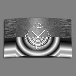 Abstrakt grau metallic Designer Wanduhr modernes...
