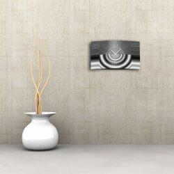 Abstrakt grau metallic Designer Wanduhr modernes Wanduhren Design leise kein ticken dixtime 3D-0042