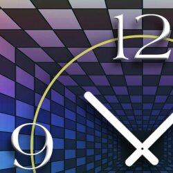 Abstrakt Space Chessboard  Designer Wanduhr modernes Wanduhren Design leise kein ticken dixtime 3D-0041