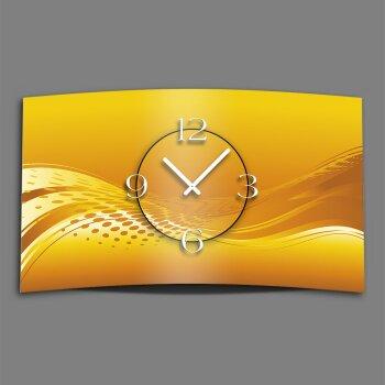 Abstrakt orange Designer Wanduhr modernes Wanduhren Design leise kein ticken dixtime 3D-0035