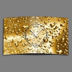 Wassertropfen gold Designer Wanduhr modernes Wanduhren...