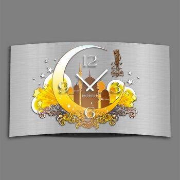 Halbmond Designer Wanduhr modernes Wanduhren Design leise kein ticken dixtime 3D-0033