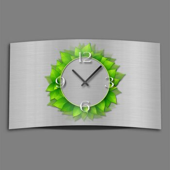 Motiv Blätter Laub Designer Wanduhr modernes Wanduhren Design leise kein ticken dixtime 3D-0032
