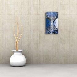 Motiv Wasserstrudel Designer Wanduhr modernes Wanduhren Design leise kein ticken dixtime 3D-0031