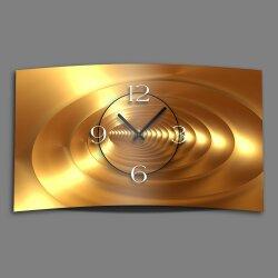 Abstrakt gold bronze Designer Wanduhr modernes Wanduhren...