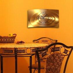 Abstrakt gold bronze Designer Wanduhr modernes Wanduhren Design leise kein ticken dixtime 3D-0030