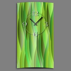Abstrakt grün lemon Designer Wanduhr modernes...