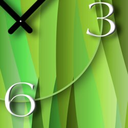 Abstrakt grün lemon Designer Wanduhr modernes Wanduhren Design leise kein ticken dixtime 3D-0029