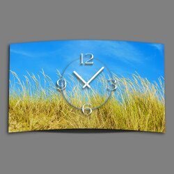 Digital Designer Art Wildwiese Designer Wanduhr abstrakt...