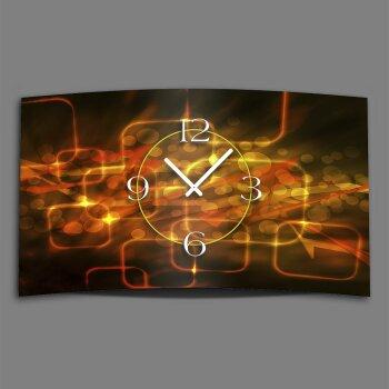 Digital Designer Art abstrakt lights Designer Wanduhr abstrakt modernes Wanduhren Design leise kein ticken DIXTIME 3DS-0418