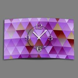 Digital Designer Art Dreiecke violet Designer Wanduhr...