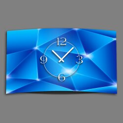 Digital Designer Art Prismen blau Designer Wanduhr...