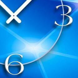 Digital Designer Art Prismen blau Designer Wanduhr abstrakt modernes Wanduhren Design leise kein ticken DIXTIME 3DS-0409