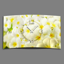 Digital Designer Art Flower  Designer Wanduhr abstrakt...