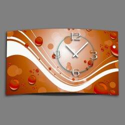 Digital Designer Art abstrakt orange Designer Wanduhr...