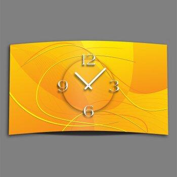 Digital Designer Art abstrakt gelb Designer Wanduhr modernes Wanduhren Design leise kein ticken DIXTIME 3DS-0377