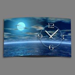 Digital Designer Art blue moon Designer Wanduhr modernes...
