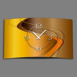 Abstrakt caramell braun Designer Wanduhr modernes...