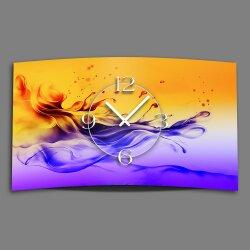 Digital Designer Art abstrakt Designer Wanduhr modernes Wanduhren Design leise kein ticken DIXTIME 3DS-0348