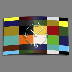 Digital Designer Art Kacheln bunt Designer Wanduhr...