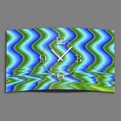 Digital Designer Art abstrakt Wellen Designer Wanduhr...
