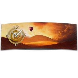 Wanduhr XXL 3D Optik Dixtime Ballon Wueste 30x90 cm...