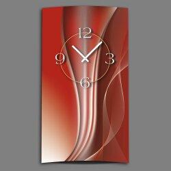 Abstrakt kupferrot hochkant Designer Wanduhr modernes Wanduhren Design leise kein ticken dixtime 3D-0019