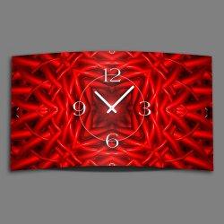 Abstrakt rot Designer Wanduhr modernes Wanduhren Design...